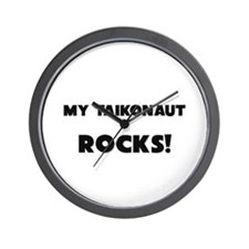 MY Taikonaut ROCKS! Wall Clock