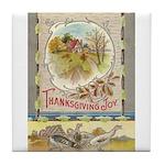 Thanksgiving Joy Tile Coaster