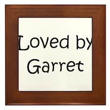 Cute Garret Framed Tile