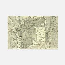 Vintage Map of Jerusalem Israel (1859) Magnets