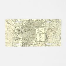 Vintage Map of Jerusalem Is Aluminum License Plate