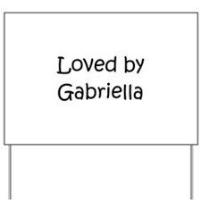 Unique Gabriella Yard Sign