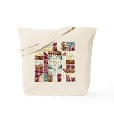 81 Squares Pink & Blue Tote Bag