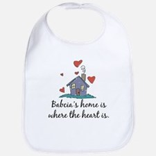 Babcia's Home is Where the Heart Is Bib