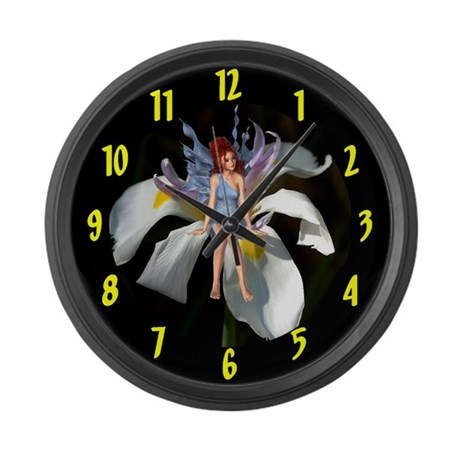 Fairy Flower Large Wall Clock