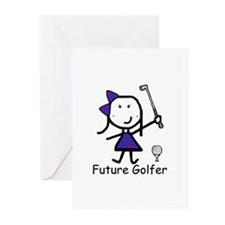 Girl Future Golfer Greeting Cards (Pk of 10)
