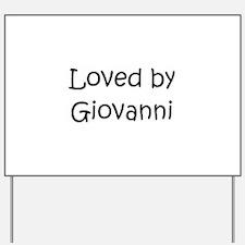 Cute Giovanni Yard Sign