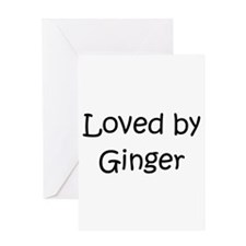 Unique Ginger Greeting Card