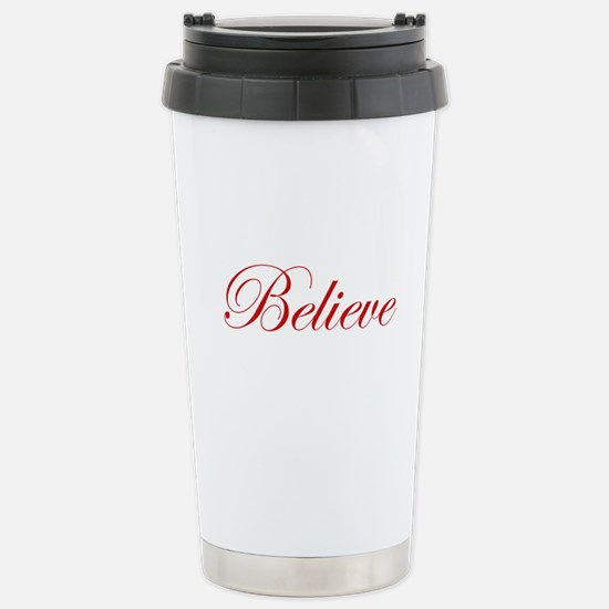 Red Believe Stainless Steel Travel Mug