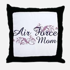 USAF Mom Throw Pillow