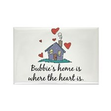 Bubbie's Home is Where the Heart Is Rectangle Magn