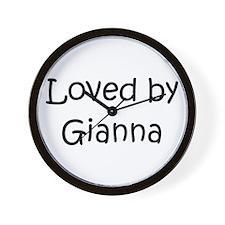 Funny Gianna Wall Clock