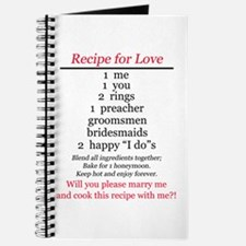 RECIPE FOR LOVE PROPOSAL Journal