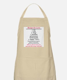 RECIPE FOR LOVE PROPOSAL BBQ Apron