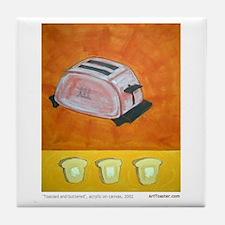 Toaster series paintings Tile Coaster