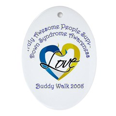 Truly Awesome People Oval Ornament