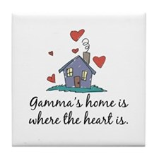 Gamma's Home is Where the Heart Is Tile Coaster