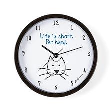 Funny Homeless pets Wall Clock