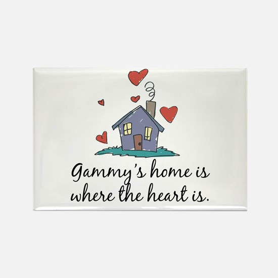 Gammy's Home is Where the Heart Is Rectangle Magne