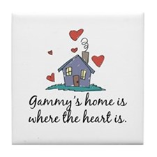 Gammy's Home is Where the Heart Is Tile Coaster