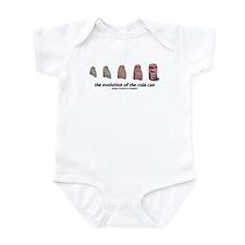 evolution of the cola can Infant Bodysuit