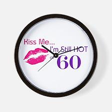 Kiss Me I'm Hot 60 Wall Clock