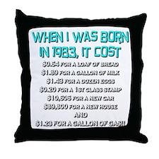 Price Check 1983 Throw Pillow