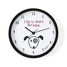 Homeless pets Wall Clock