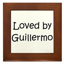 Cute Guillermo Framed Tile