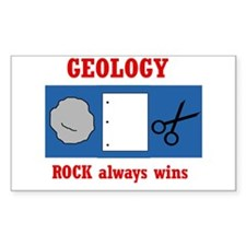 Rock Always Wins Rectangle Decal