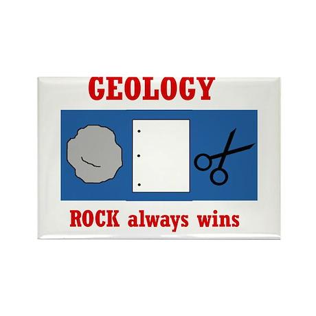 Rock Always Wins Rectangle Magnet (10 pack)