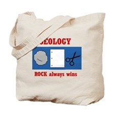 Rock Always Wins Tote Bag