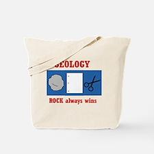 Rock Always Wins Tote Bag