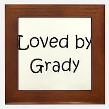 Cute Grady Framed Tile