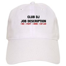 DJ Job Description Baseball Cap