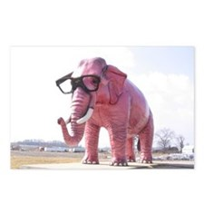 Pink Elephant Postcards (Package of 8)