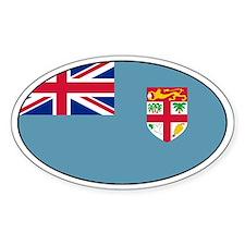 Fijian stickers Oval Stickers