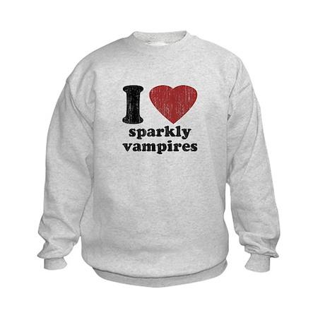 I heart sparkly vampires Kids Sweatshirt