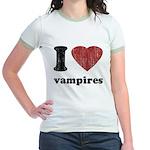 I heart vampires Jr. Ringer T-Shirt