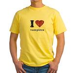 I heart vampires Yellow T-Shirt