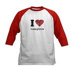 I heart vampires Kids Baseball Jersey