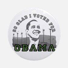 So Glad I Voted for Obama Ornament (Round)