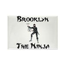 Brooklyn - The Ninja Rectangle Magnet