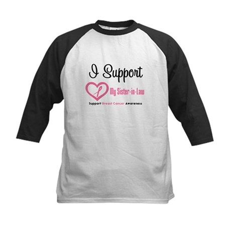 Breast Cancer Support Kids Baseball Jersey