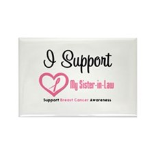 Breast Cancer Support Rectangle Magnet