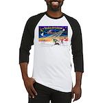 XmasSunrise/4 Ital Greyhnds Baseball Jersey