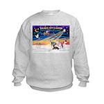 XmasSunrise/4 Ital Greyhnds Kids Sweatshirt