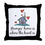 Gramps' Home is Where the Heart Is Throw Pillow