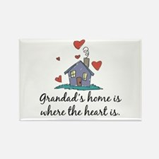Grandad's Home is Where the Heart Is Rectangle Mag