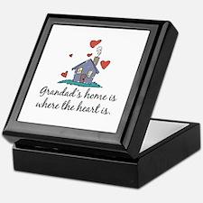 Grandad's Home is Where the Heart Is Keepsake Box